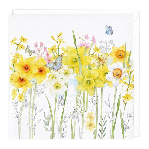 Spring Flowers Floral Card