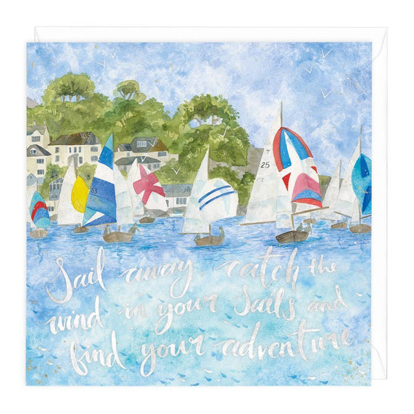 Sail Away Art Card