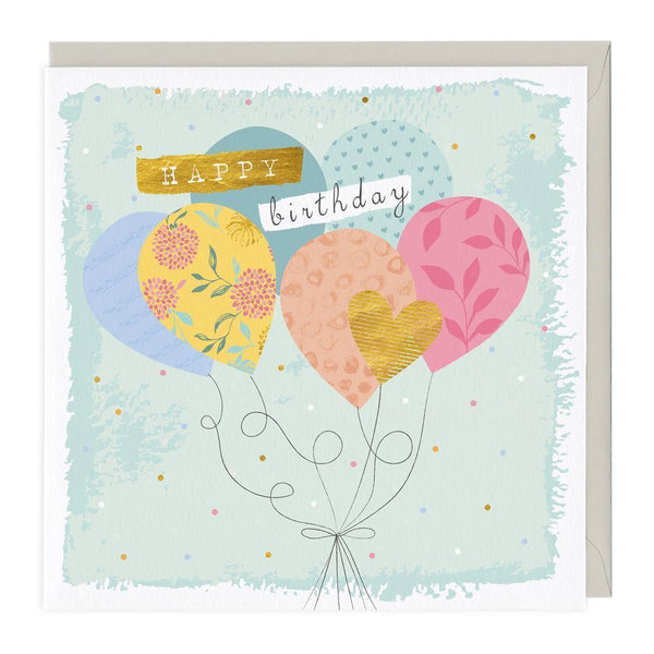 Patterned Balloons Birthday Card