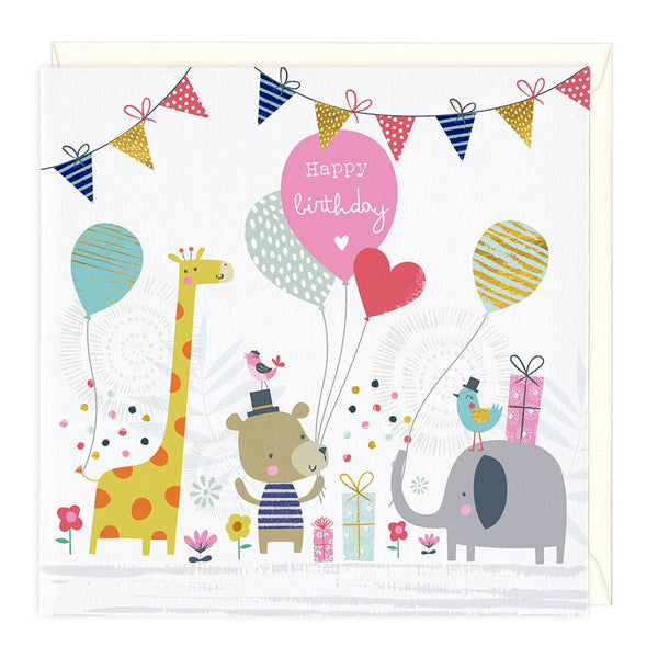 Animal Scene Childrens Birthday Card