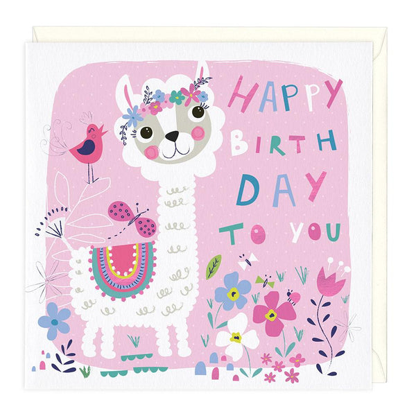 Little Llama Childrens Birthday Card