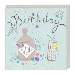 Happy Birthday Gin Card