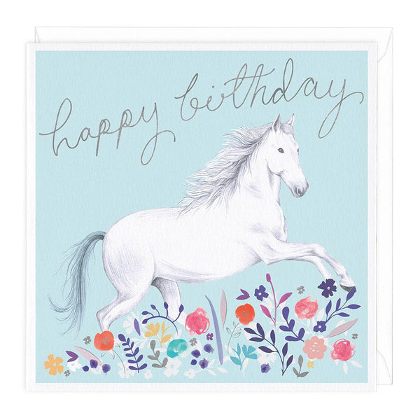 Horse Meadow Happy Birthday Card