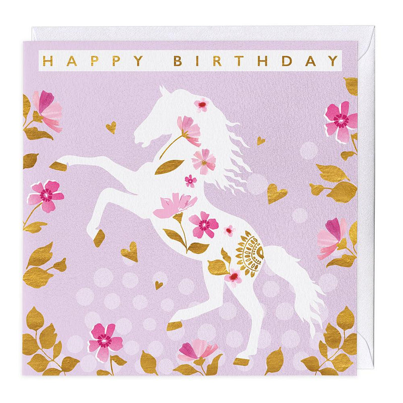 Golden Hooves Birthday Card