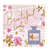 Perfume and Flowers Beautiful Lady Birthday Card