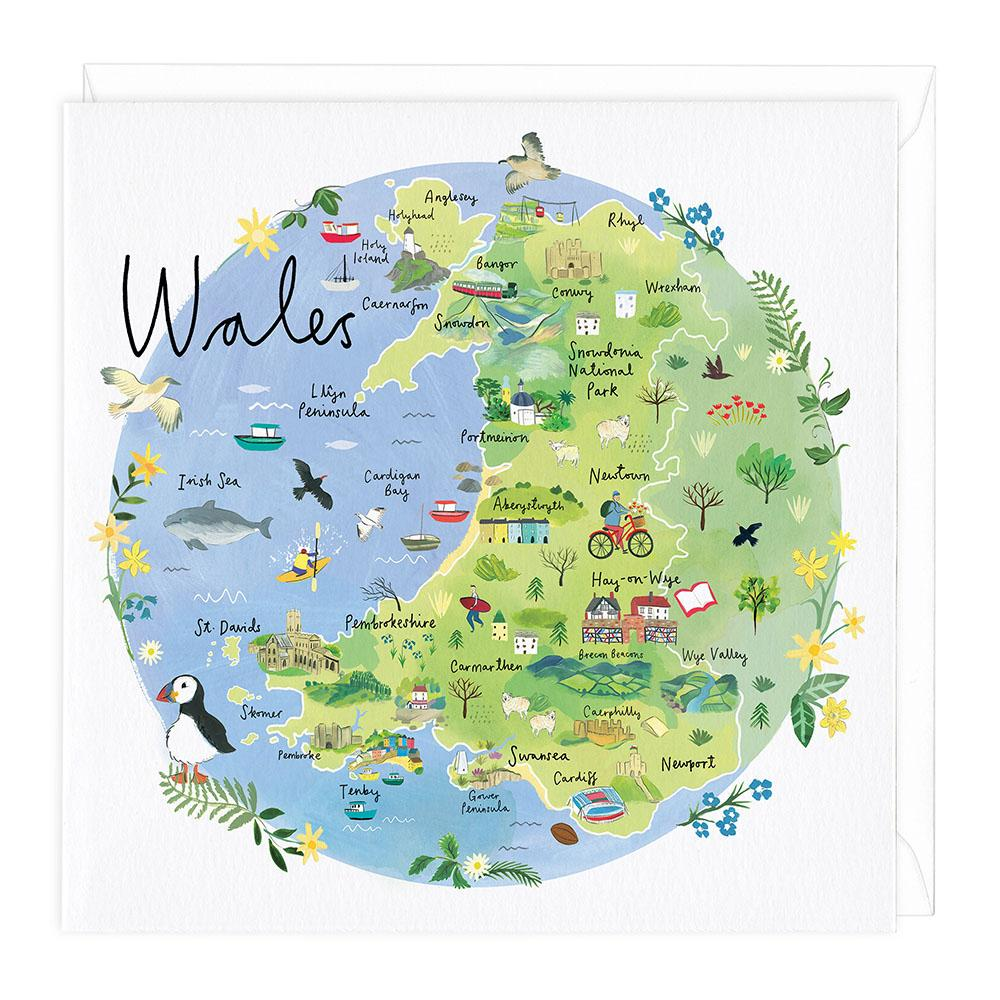 Wales Map Card