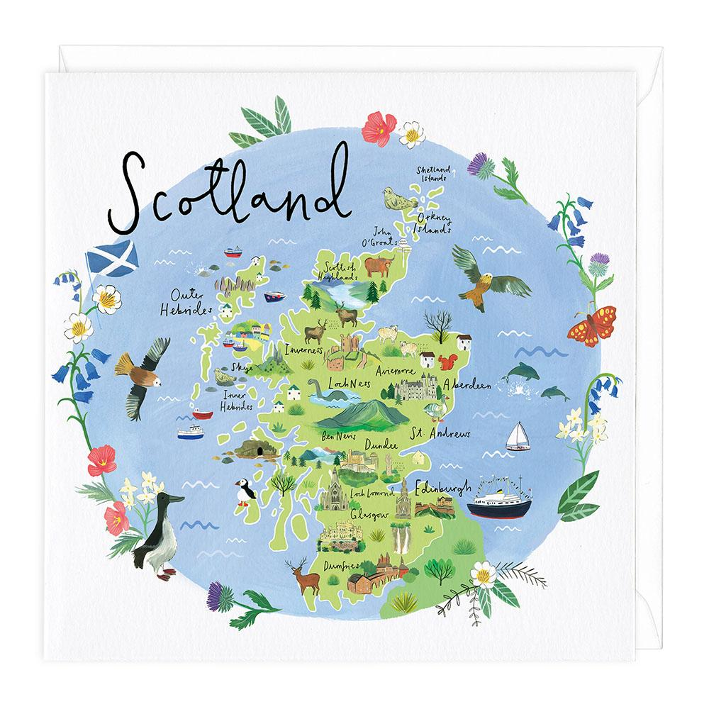 Scotland Map Card on map code, map label, map of bern and dreilinden, map pen, map color, map of croom motorcycle area, map button, map frame, map table, map beach, map list, map plastic, map craft,