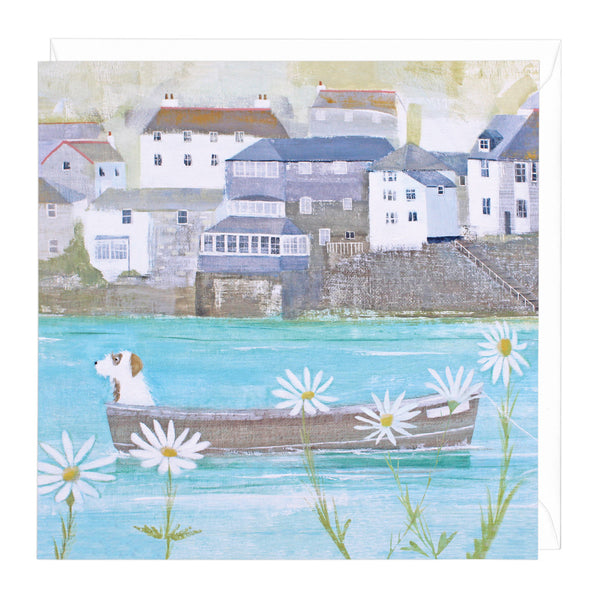 Sailing Through The Daisies Art Card