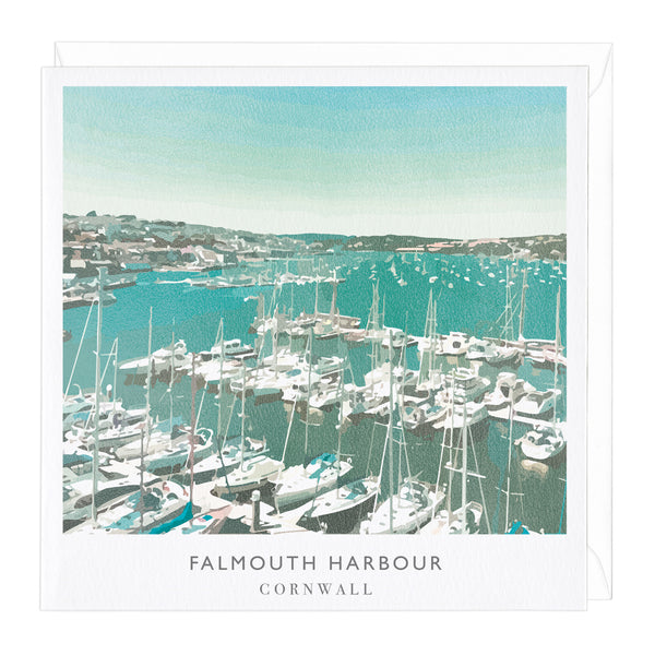 Falmouth Harbour Travel Art Card