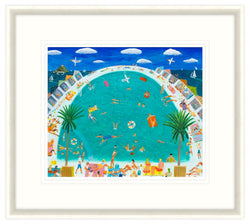 Pool Days Framed Print
