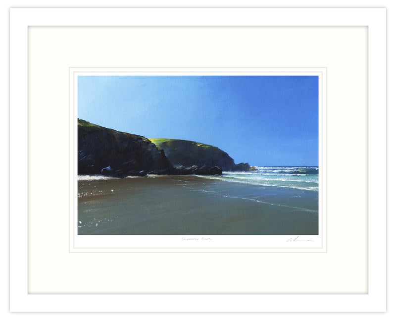Summer Cove Framed Print