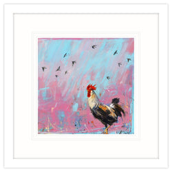 Woodpigeons & the Rooster Framed