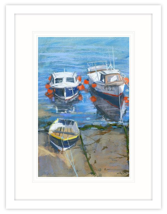 Moored Boats Framed