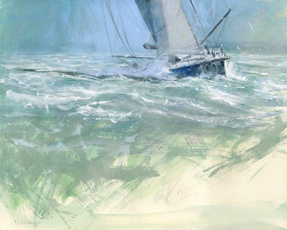 Ocean Racer In The Solent Art Print