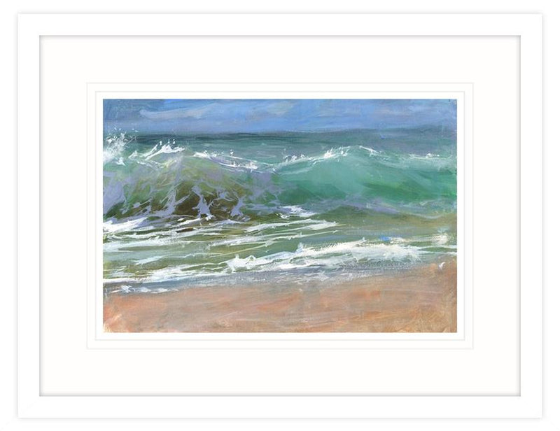 Through The Wave 2 Framed Print