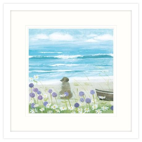 Breakers Small Framed Print
