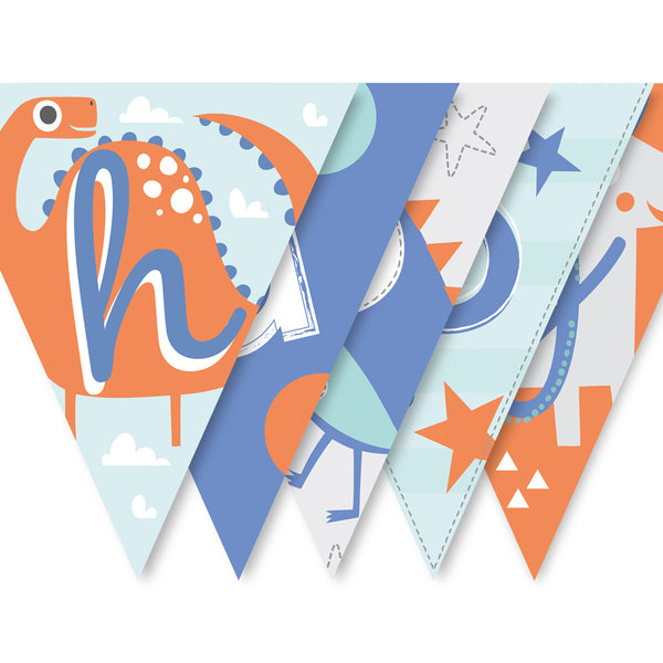 Dino Fun Children's Birthday Bunting