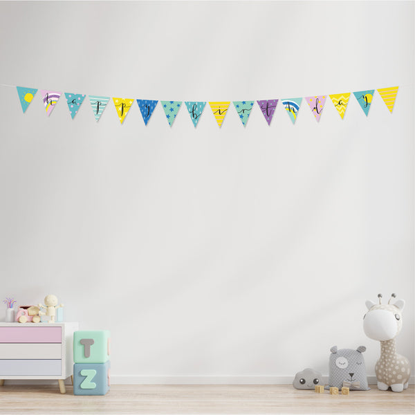 Sun, Stripes & Stars Happy Birthday Bunting