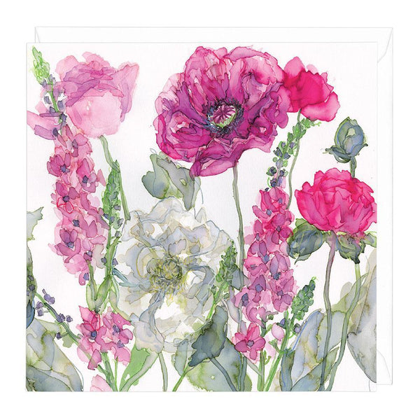Mixed Blossom Floral Greeting Card