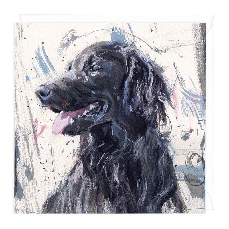 Flat Coat Retriever III Art Card