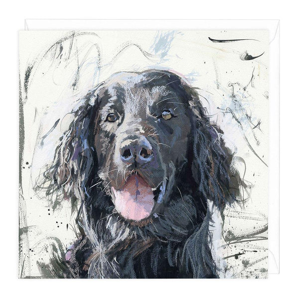 Flat Coat Retriever Dog Greeting Card