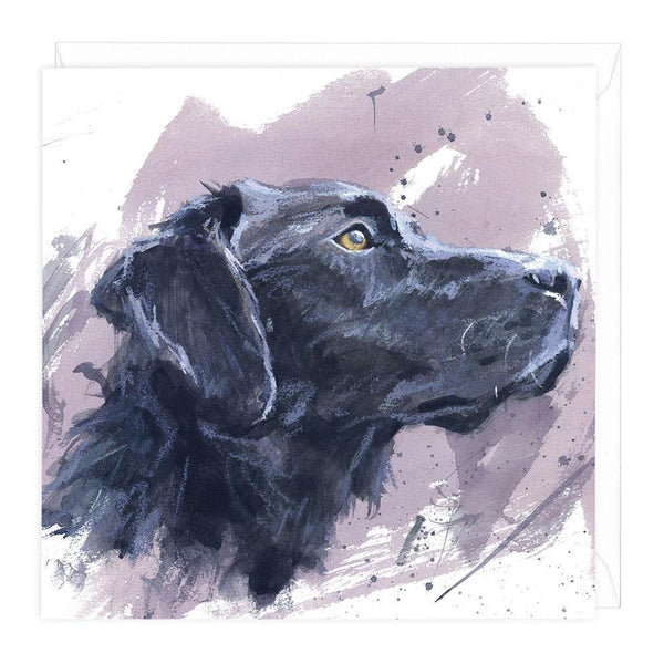 Black Labrador 2 Greeting Card