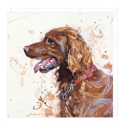 Red Setter Art Card