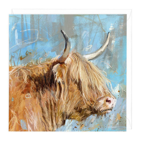 Highland Profile 2 Greeting Card