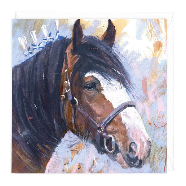 Clydesdale Horse Art Card
