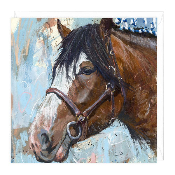 Clydesdale Horse II Art Card