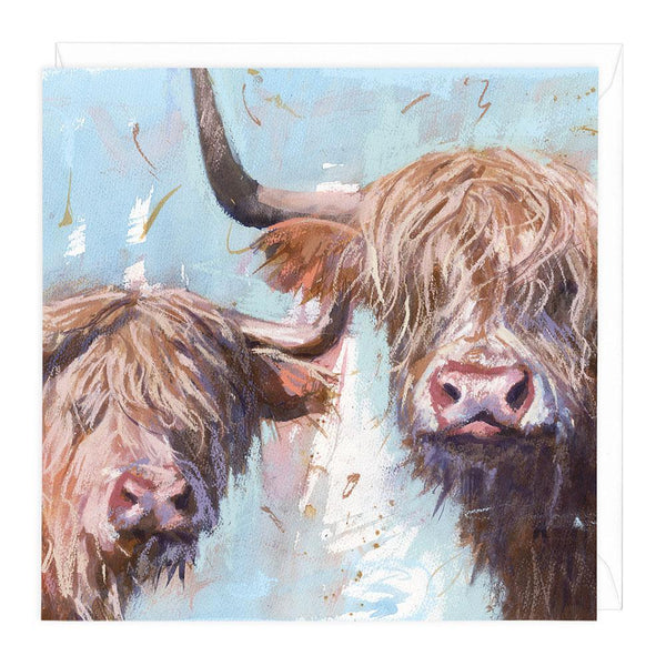 Highland Cows Animal Greeting Card