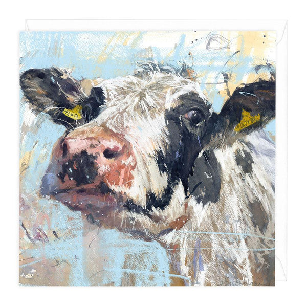 Curious Cow Art Card