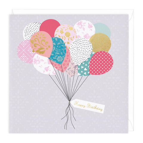Balloons And Presents Birthday Card