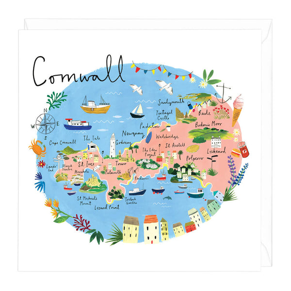 Cornwall Map Card