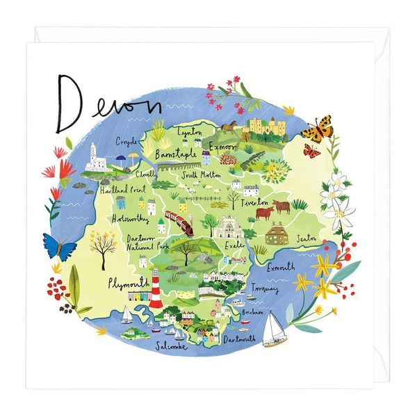 Devon Map Card