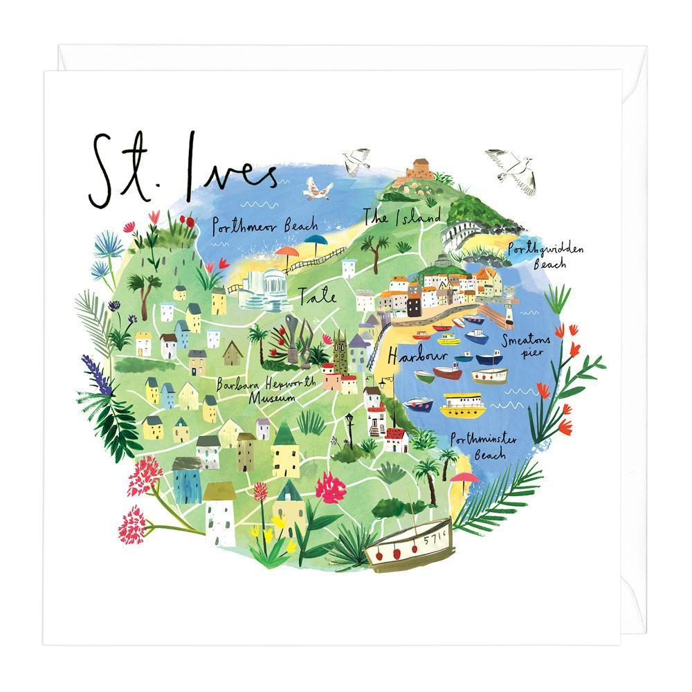 Map Of St Ives St Ives Map Card | Whistlefish