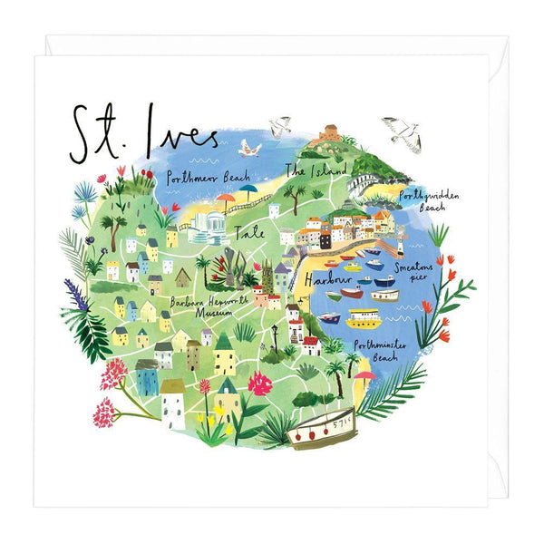St Ives Map Card