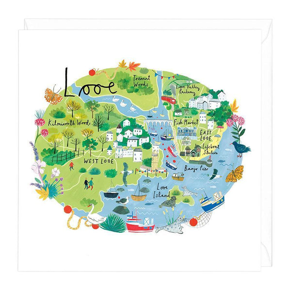 Looe Map Card