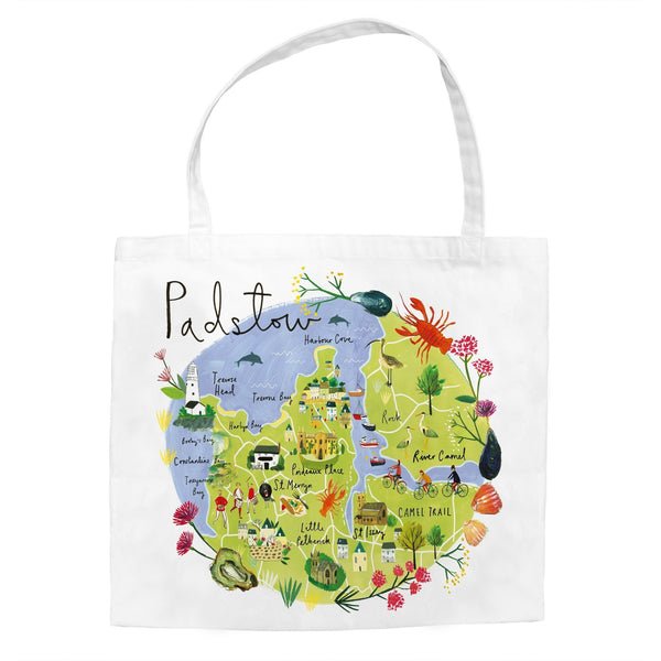 Padstow Map Tote Bag