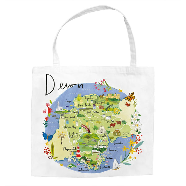 Devon Map Tote Bag