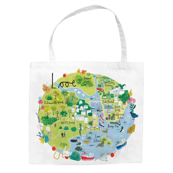 Looe Map Tote Bag