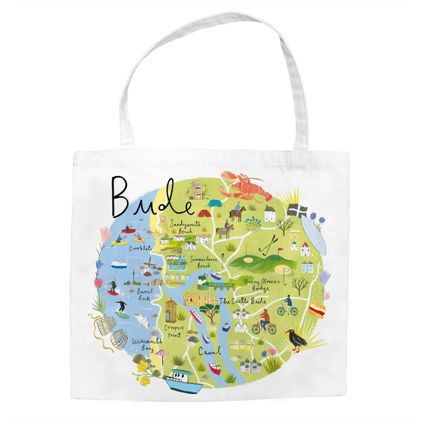 Bude Map Tote Bag
