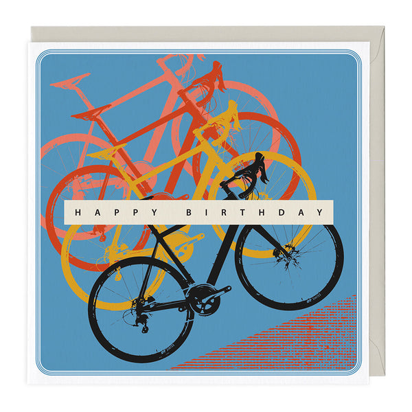 Cycling Happy Birthday Card