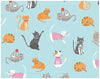 Furry Cat Friends Wrapping Paper