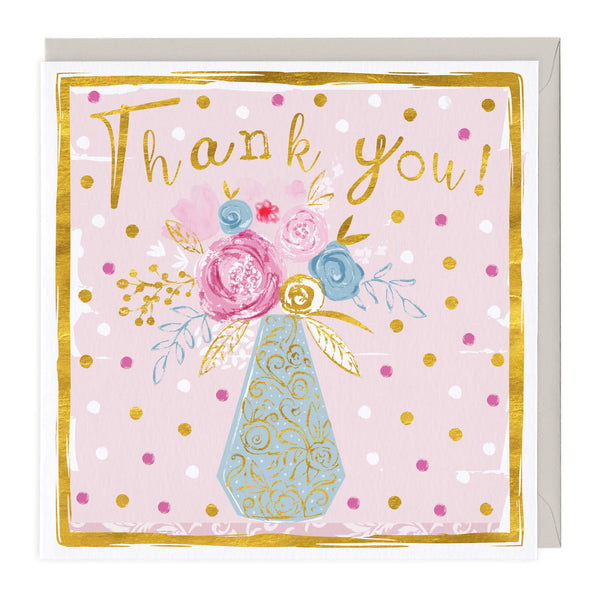 Golden Vase Thank You Card
