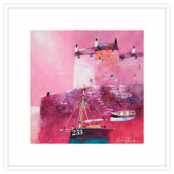 Crimson Harbour Framed Print
