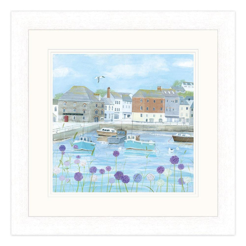 Padstow Flowers Framed Print Large