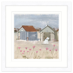 The Old Beach Huts Framed