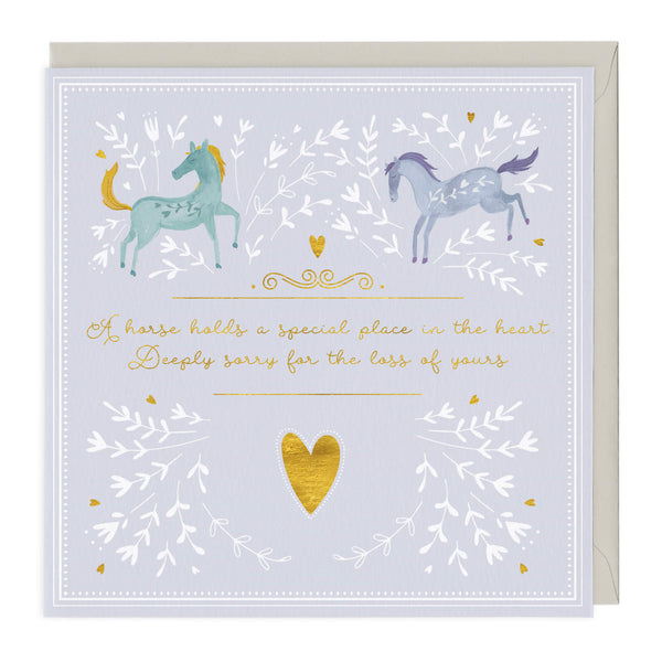 A Horse Holds A Special Place Pet Sympathy Card