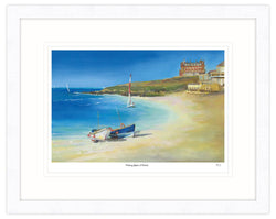 Fishing Boats As Fistral Framed Print